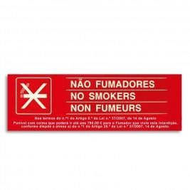 """Sinalética autocolante """"Não Fumadores"""" colagem direta em superficie opaca"""