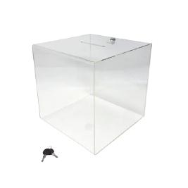 Urna com formato em cubo c/ fechadura