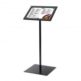 Porta Menus Preto / LED