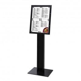 Suporte para menus Preto 4xA4  / LED