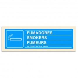 """Sinalética PVC """"Fumadores/Não Fumadores"""""""