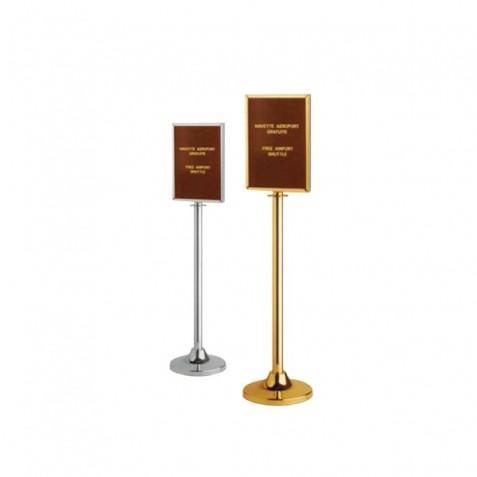 Poste informativo dourado Pack 2 unidades