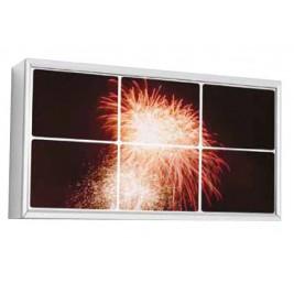 Quadro de parede LED| acabamento anodizado em prata LED duplo