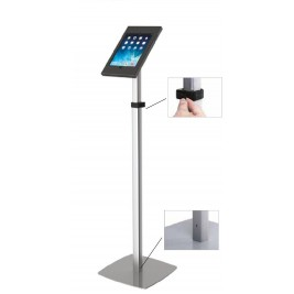 Slimcase de pé telescópico| colocação do tablet na horizontal ou vertical