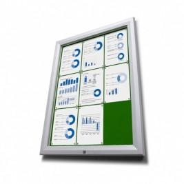 Pantalla de información de cuero verde T