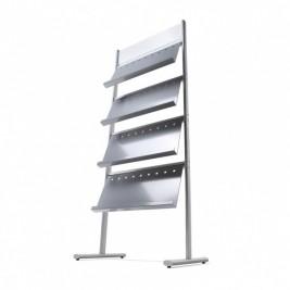 Multipocket| suporte para folhetos com 4 estantes