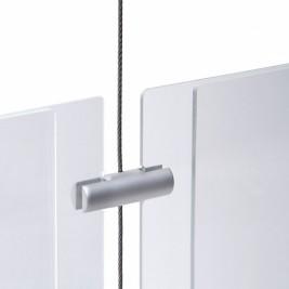 Clip duplo para sistema de cabos