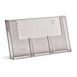 Porta folhetos 3 DL | Bancada/Parede