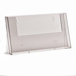 Porta folhetos A4 horizontal | Bancada/Parede