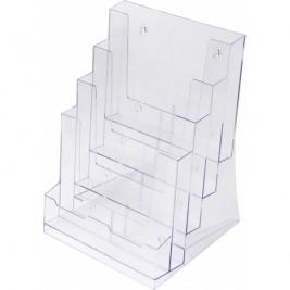 Porta panfletos 4x A4 | Bancada/Parede