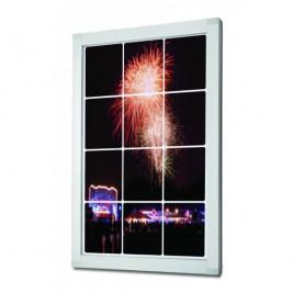 Porta poster bloqueável e LED OL| bloqueio lateral com cilindro