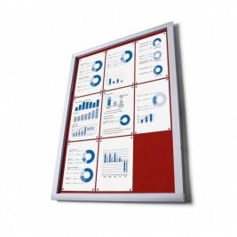 Pantalla de información de la tela O (rojo)