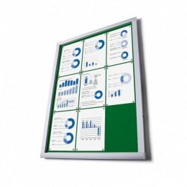 Vitrina de información O en tela (Verde)