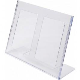 Porta folhetos em L A4 Horizontal