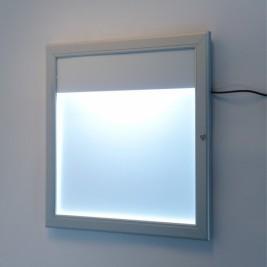 Porta menu exterior| com LED em linha na parte superior