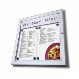 Porta menu exterior|  sem LED em linha na parte superior