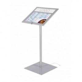 Porta menu Exterior com LED em linha na parte superior