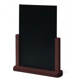 JD NATURA Cavalete de mesa| alta qualidade de madeira envernizada Castanho Escuro