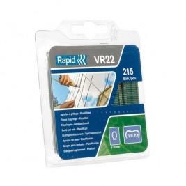 Blister de Agrafos Plastificados Verdes  para Rede VR22