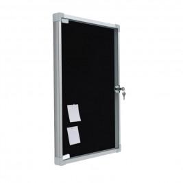 Exhibición de anuncios con puerta plegable